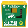 SP 1000 Defib Cabinet, Keypad Locked with Heating and Light - Stainless Steel