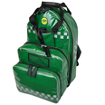 SP Parabag First Responder AED & Oxygen Backpack Green - TPU Fabric