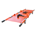 Emergency Double Folding Stretcher with Carry Bag - Orange