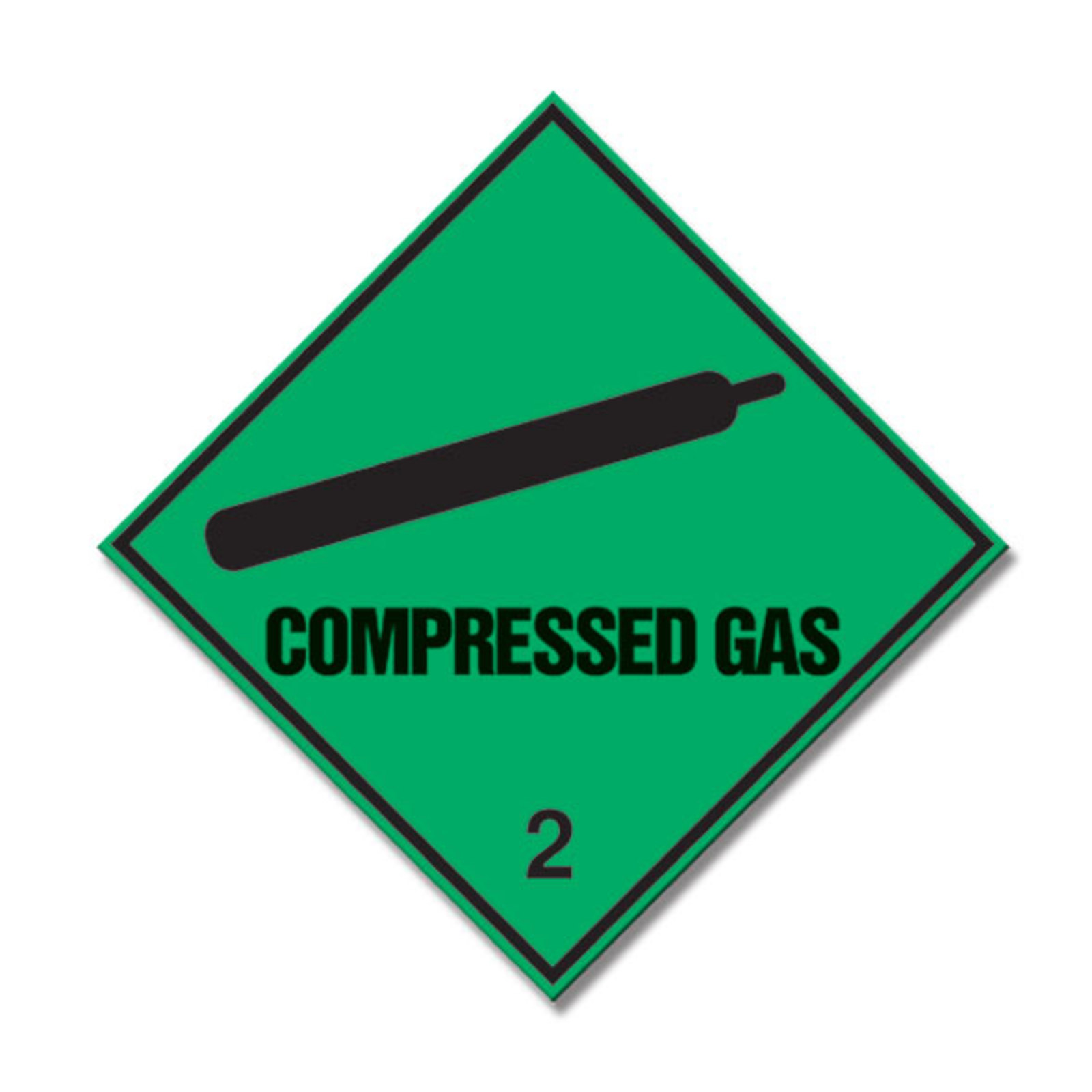 Compressed Gas Diamond Safety Sign 100 X 100mm